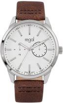 Regal Horloges- Regal horloge met bruine leren band