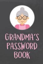 Grandma's Password Book: Organizer to Protect Usernames and Passwords for Internet Websites and Services