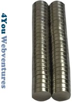 Ronde platte neodymium magneetjes 50 stuks - 8 x 2 mm - zeer sterk - neodymium magneet - koelkast - whiteboard - 4You Webventures