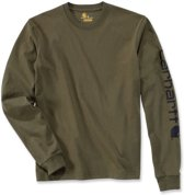 Carhartt Logo Long Sleeve T-Shirt-BLK-S