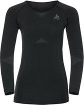 Odlo Shirt L/S Crew Neck Evolution Light Dames Sport ondershirt - Zwart - XL