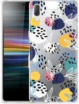 Sony Xperia L3 Hoesje Abstract Flowers