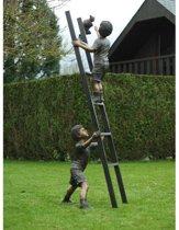 Tuinbeeld - groot bronzen beeld - kinderen op ladder - Bronzartes