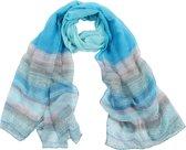 Mooie geblokte sjaal in pasteltinten
