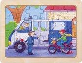 Goki Houten Legpuzzel Politie 19 X 14,5 Cm 24 Stukjes