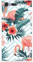 Sony Xperia XZ Premium Hoesje Flamingo Flowers