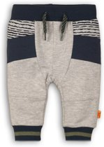 Dirkje Jongens Joggingbroek - Grey + stripe + navy - Maat 80