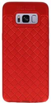 Wicked Narwal | Geweven TPU Siliconen Case voor Samsung Galaxy S8 Rood