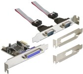 DeLock PCI Express Interface Kaart - 2 x Serial / 1 x Parallel
