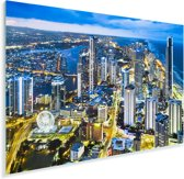 De Gold Coast bij schemering in het Australische Queensland Plexiglas 180x120 cm - Foto print op Glas (Plexiglas wanddecoratie) XXL / Groot formaat!