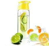 XL Fruit Infuser - Fruitwater Fruit Filter Fles - BPA Vrij- Fruitfilter Sport Fles - Geel 700 ml