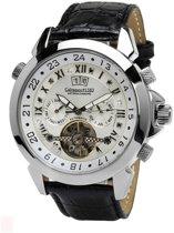 Calvaneo 1583 Calvaneo Astonia Platinum Black Russian Diamond - Horloge - 46 mm - Automatisch uurwerk