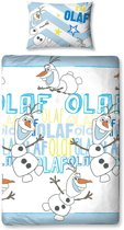 Disney Frozen Olaf - Dekbedovertrek - 135x200 cm - Wit