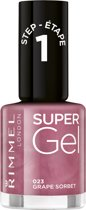 Rimmel London SuperGel - 023 Grape Sorbet - Gel Nagellak