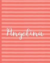 Angelina - Wide-Ruled Composition Book - Living Coral Collection