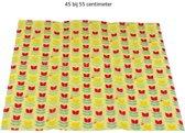 BeeBee Wraps Bijenwas Doek voor voedsel bewaren Tulip - organisch katoen 45x55cm