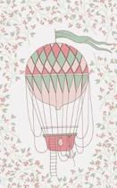 Pink Coral Hot Air Balloon & Basket - Lined Notebook with Margins - 5x8