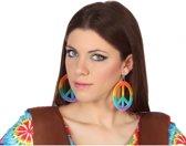 Hippie oorbellen gekleurd