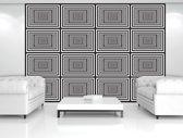 Fotobehang Design | Zwart, Wit | 208x146cm