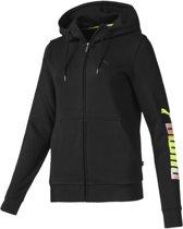 PUMA ESS Logo Hooded Jacket FL Vest Dames - Puma Black - Maat M