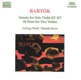 Bartok: Sonata for Solo Violin - 44 Duos / Pauk, Sawa
