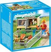 Playmobil Konijnenhok met buitenren - 6140