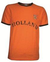 Retro T-shirt Oranje - EK/WK Nederlands Elftal - Voetbal met Holland logo - maat XXL