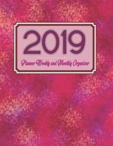 2019 Planner Weekly and Monthly Organizer