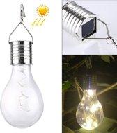 IP55 Waterdichte LED zonne-energie koperdraad lamp  5 LEDs milieu vriendelijke hangende Lamp met zonnepaneel (Warm wit)