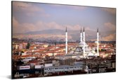 Uitzicht over de Turkse stad Ankara Aluminium 90x60 cm - Foto print op Aluminium (metaal wanddecoratie)