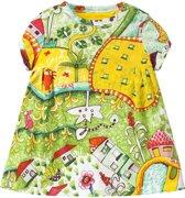 Jersey jurk Trada voor meisjes groen
