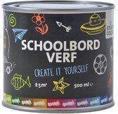 Schoolbordverf zwart - 500 ml.