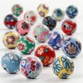 Kleikralen, d: 10 mm, kleuren assorti, 40 assorti