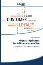 Klientu Lojalit Tes Izv Rt Ana Un Anal Ze