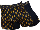 Cavello - Heren 2-Pack Boxershorts Mill Blauw - M