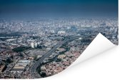 Luchtfoto van de Braziliaanse stad Guarulhos in de staat van São Paulo Poster 90x60 cm - Foto print op Poster (wanddecoratie woonkamer / slaapkamer)