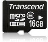 Transcend 16 GB Micro SDHC Geheugenkaart met 1 Adapter
