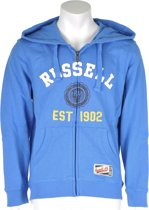 Russell Athletic Full zip Hooded Sweat - Sporttrui - Kinderen - Maat 128 - Blauw