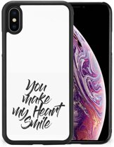 Apple iPhone Xs Max Hoesje met Quotes Heart Smile