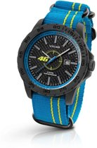 VR46 Collection by TW Steel -  Polshorloge  - 40 mm -  Carbon - Blauw