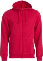 Clique Basic hoody full zip Rood maat M