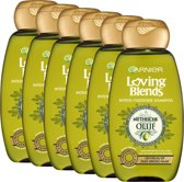 Garnier Loving Blends Olijf - 6 x 300 ml - Shampoo - Voordeelverpakking