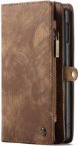 Caseme - Samsung Galaxy S10e Hoesje - Uitneembare Portemonnee Vintage Bruin