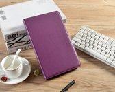 H.K. Draaibaar/Boekhoesje hoesje paars geschikt voor Samsung Galaxy Tab A 2019 (T510) + Glasfolie en stylus pen