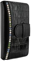 Piel Frama Wallet iPhone 5 & 5S Lederen Hoes Crocodile Swarovski Black