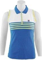 Fila Polo Knitted - Sportpolo -  Dames - Maat XS - Blue;yellow;White