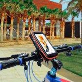 Zwarte Hoge kwaliteit Waterdichte Smartphone hoesjes 2019 - Telefoonhouder voor fiets  - Telefoonhouder fiets - Stuurtas - / Geschikt voor grotere telefoons - Stuurtas fiets / Samsung S8 / Samsung Galaxy / Huawei