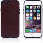 TPU/PU Leren Softcase iPhone 6(s) plus - Bruin