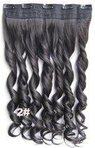 Clip in hairextensions 1 baan wavy bruin - 2#