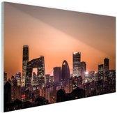 FotoCadeau.nl - Beijing skyline foto afdruk Glas 60x40 cm - Foto print op Glas (Plexiglas wanddecoratie)